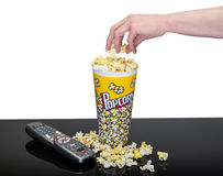 Movie Night Snack Stock Photo