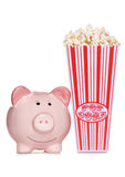 Movie night in to ave money Stock Photography