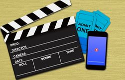 Movie online booking concept Royalty Free Stock Photo