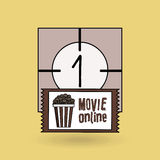 Movie online design. Illustration eps10 graphic Stock Image