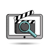 Movie online design. Illustration eps10 graphic Stock Photos