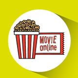 Movie online design. Illustration eps10 graphic Stock Photo