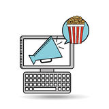 Movie online design. Illustration eps10 graphic Royalty Free Stock Photo