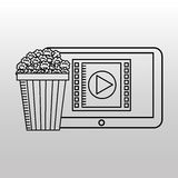 Movie online design. Illustration eps10 graphic Royalty Free Stock Images