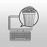 Movie online design. Illustration eps10 graphic Royalty Free Stock Image