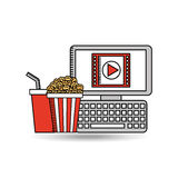 Movie online design. Illustration eps10 graphic Royalty Free Stock Photography