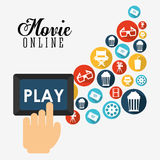movie online design Royalty Free Stock Photography