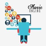 movie online design Royalty Free Stock Photo
