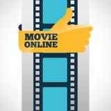 movie online design Stock Image