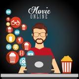movie online design Royalty Free Stock Photos