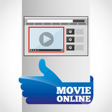movie online design Royalty Free Stock Image