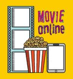 Movie online. Design, vector illustration eps10 graphic Royalty Free Stock Image