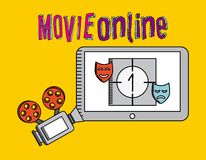 Movie online. Design, vector illustration eps10 graphic Stock Image