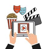 Movie online Royalty Free Stock Photo