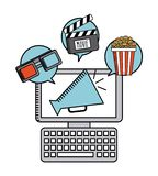 Movie online. Design, vector illustration eps10 graphic Royalty Free Stock Photos