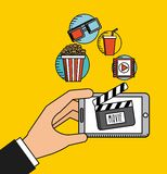 Movie online. Design, vector illustration eps10 graphic Royalty Free Stock Photo