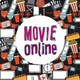 Movie online. Design, vector illustration eps10 graphic Royalty Free Stock Photography