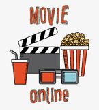 Movie online. Design, vector illustration eps10 graphic Stock Photos