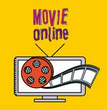 Movie online Royalty Free Stock Photo