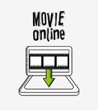 Movie online design. Vector illustration eps10 graphic Stock Photo