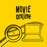 Movie online design. Vector illustration eps10 graphic Royalty Free Stock Image