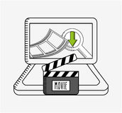 Movie online design. Vector illustration eps10 graphic Royalty Free Stock Photo
