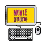 Movie online design. Vector illustration eps10 graphic Royalty Free Stock Images