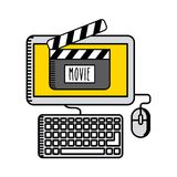 Movie online design. Vector illustration eps10 graphic Stock Image