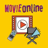 Movie online. Design, vector illustration graphic Royalty Free Stock Images