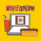 Movie online. Design, vector illustration graphic Royalty Free Stock Photos