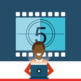 Movie online design. Vector illustration graphic Royalty Free Stock Photography