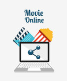 Movie online design. Vector illustration graphic Royalty Free Stock Image