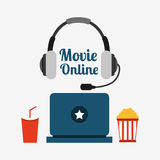 Movie online design. Vector illustration graphic Stock Images