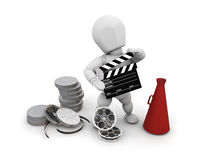 Movie person Stock Image