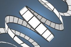 Movie/photo film. 3d isolated illustration on blue background Royalty Free Stock Image