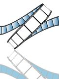 Movie/photo film. Isolated movie/photo film - illustration on white background (with vector EPS format Stock Image