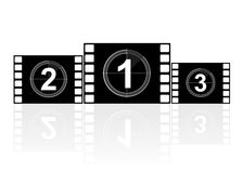Movie platform. With numbers isolated over white Stock Images