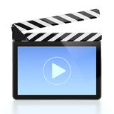 Movie player icon. 3D illustration of movie player icon in form of computer screen Royalty Free Stock Photography