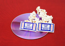 Movie and Popcorn Royalty Free Stock Photo