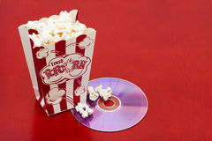 Movie and Popcorn Stock Image