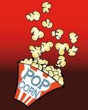 Movie Popcorn Cartoon Stock Images