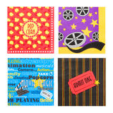 Movie Popcorn Napkins Stock Photography