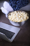 Movie with popcorn Stock Photo