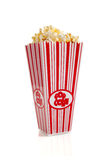 Movie Popcorn on White Stock Images