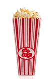 Movie Popcorn on White Royalty Free Stock Photos