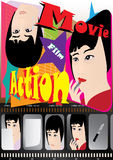 Movie Poster - Decision_eps. Illustration of movie poster with story line - decision Royalty Free Stock Photography