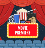 Movie premiere poster Royalty Free Stock Images
