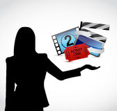 Movie presentation illustration design Stock Images