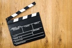 Movie production clapper Stock Image