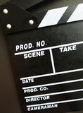 Movie production clapper board Stock Photography